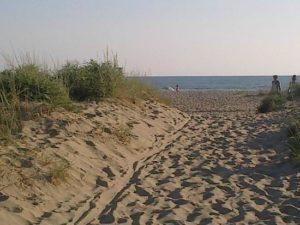tardo pomeriggio alla spiaggia della lecciona