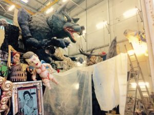 lavori in corso alla Cittadella del Carnevale