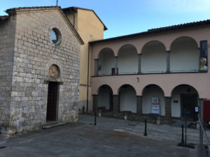facciata del museo d'arte sacra di Camaiore