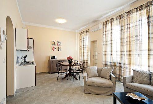 Cucina e salotto B&B Arsella Viareggio