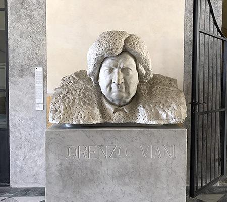 Palazzo delle Muse: busto di Lorenzo Viani