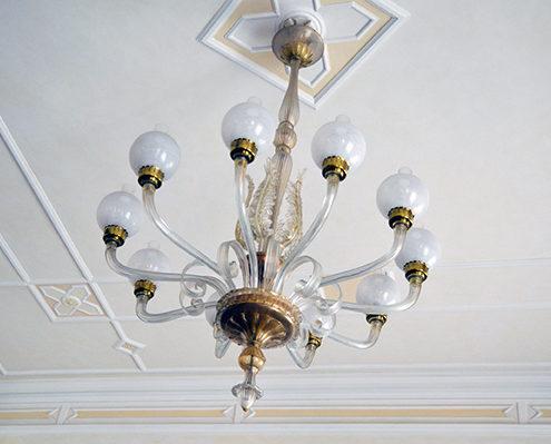 lampadario del Grand Hotel Principe di Piemonte