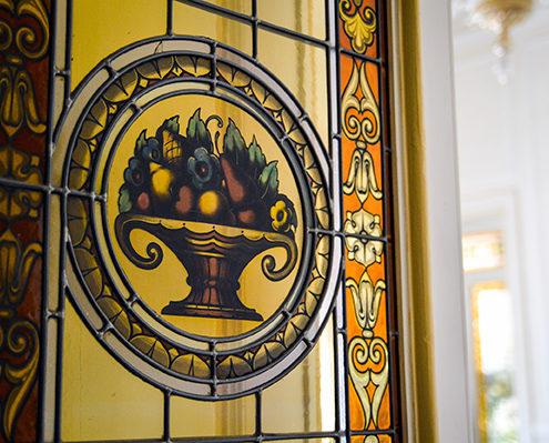 vetrata anni '20 del Grand Hotel Principe di Piemonte