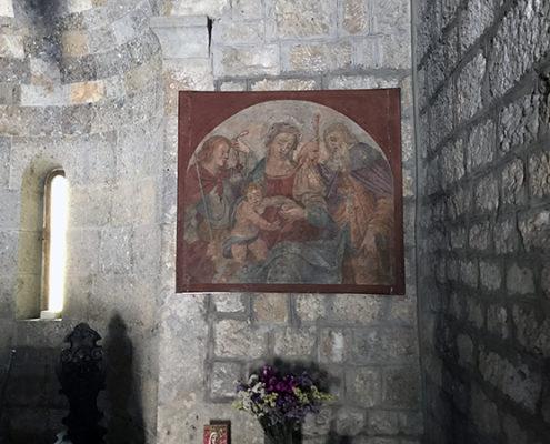 dettaglio interno della chiesa di San Michele a Camaiore