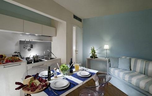 Cucina appartamento Hotel Esplanade Viareggio
