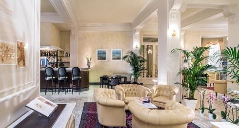 sala lettura Hotel Esplanade Viareggio