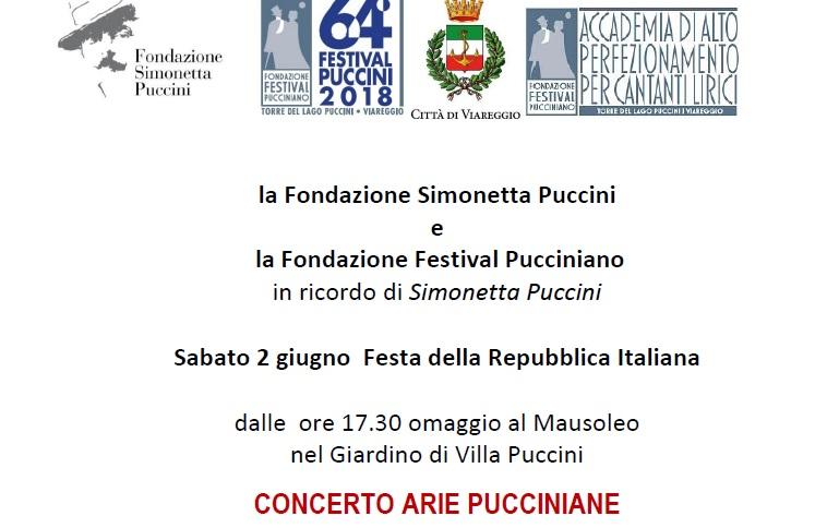 concerto arie pucciniane, festival puccinano