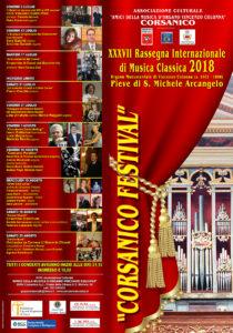"""PROGRAMMA """"CORSANICO FESTIVAL"""" 2018"""