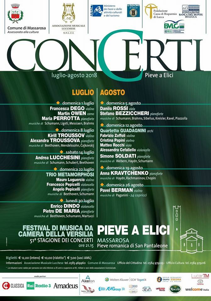 Concerti Pieve a elici 2018