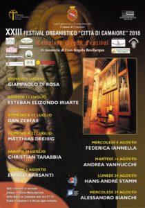 """XXIII Festival Organistico """"Città di Camaiore"""" 2018"""