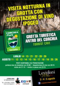 Degustazioni di vino e visita della grotta in notturna