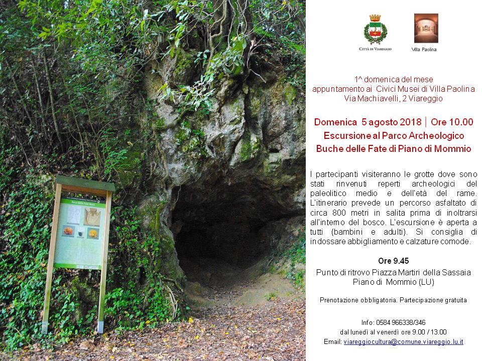ESCURSIONE AL PARCO ARCHEOLOGICO DELLE BUCHE DELLE FATE