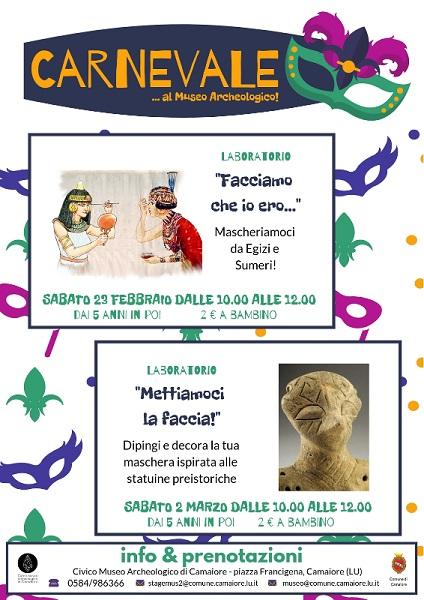 Carnevale al Museo Archeologico di Camaiore