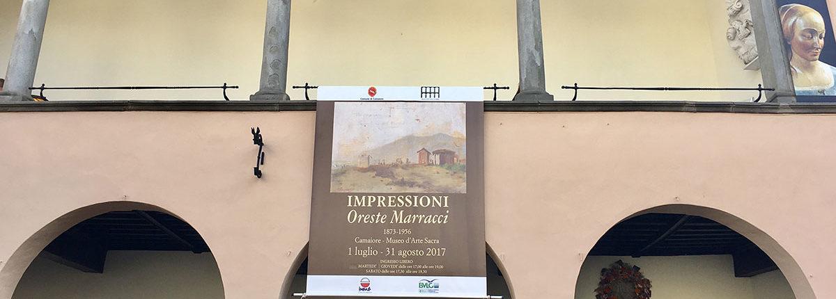 Banner per Oreste Marracci al Museo d'Arte Sacra di Camaiore