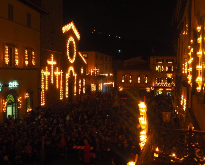 luminara di camaiore panoramica processione