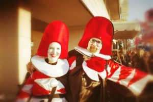 43° Rione Vecchia Viareggio festa di carnevale bambini . Maschera Burlamacco