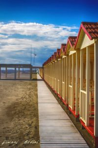 Spiagge della Versilia, cabine in legno