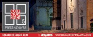 """PIETRASANTA COLLECTORS' NIGHT Pietrasanta si conferma capitale dell'arte contemporanea. Sabato 25 luglio 2020 torna la """"Collectors Night"""", manifestazione che raccoglie le proposte espositive di otto gallerie d'eccellenza nel panorama italiano, tutte iscritte all'Associazione Nazionale Gallerie d'Arte Moderna e Contemporanea. Realizzata con il patrocinio del Comune di Pietrasanta, la quinta edizione della """"Collectors Night"""" si configura come un percorso nel centro storico di Pietrasanta, attraverso le opere d'arte proposte da Accesso Galleria - www.accessogalleria.com Antonia Jannone - Disegni di Architettura - www.antoniajannone.it Barbara Paci Galleria - www.barbarapaciartgallery.it Futura Art Gallery - www.galleriafutura.com Galleria Giovanni Bonelli - www.galleriagiovannibonelli.it Galleria Poggiali - www.galleriapoggiali.com Marcorossi Arte Contemporanea - www.marcorossiartecontemporanea.com Susanna Orlando Galleria - www.galleriasusannaorlando.it Info: info@legalleriedipietrasanta.com www.legalleriedipietrasanta.com"""